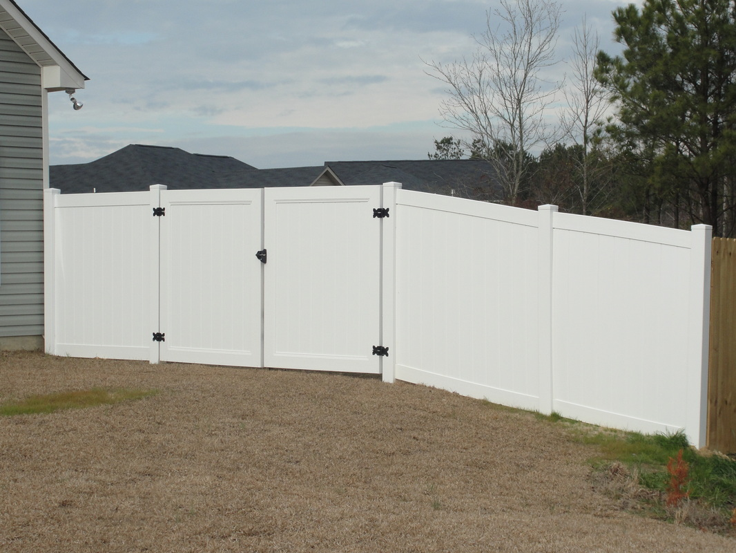 Double Fence Gate simple vinyl fence double gate installed a and inspiration decorating