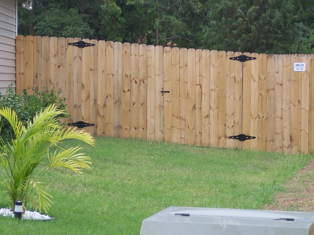Wood Fence Double Gate 10' wide double drive gate